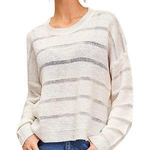 White Semi-Sheer Sweater M